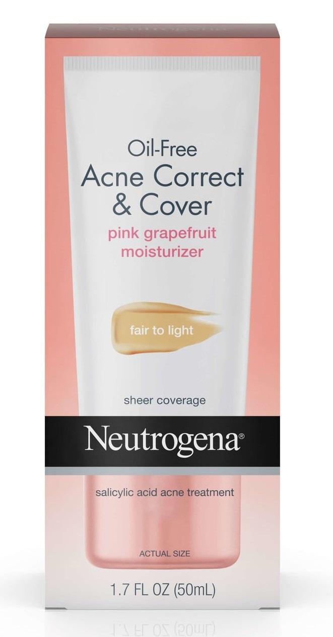 Neutrogena® Oil-Free Acne Correct & Cover Pink Grapefruit Moisturizer