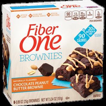 Fiber One 90 Calorie Brownies Chocolate Peanut Butter