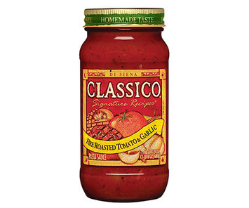 CLASSICO Signature Recipes Fire Roasted Tomato & Garlic Pasta Sauce