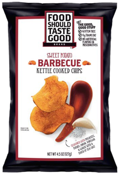 Food Should Taste Good Kettle Cooked Barbeque Sweet Potato Chips