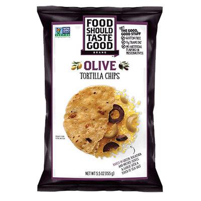 Food Should Taste Good Olive Tortilla Chips