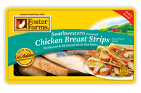 Foster Farms Southwestern Seasoned Chicken Breast Strips, 6 oz