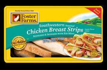 Foster Farms Southwestern Seasoned Chicken Breast Strips, 6 oz