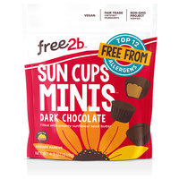 Free2b Dark Chocolate Sun Cups Minis
