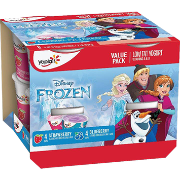 Yoplait® Kids Frozen Strawberry Blueberry Yogurt