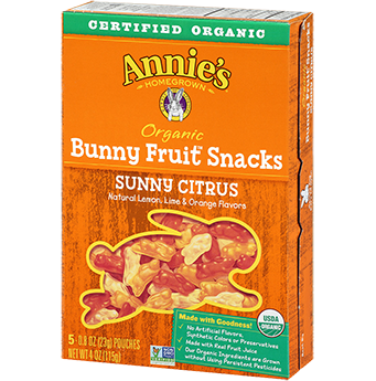 Annie's® Homegrown Sunny Citrus Organic Bunny Fruit Snacks