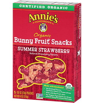 Annie's® Homegrown Summer Strawberry Organic Bunny Fruit  Snacks