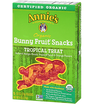 Annie's® Homegrown Tropical Treat Organic Bunny Fruit Snacks