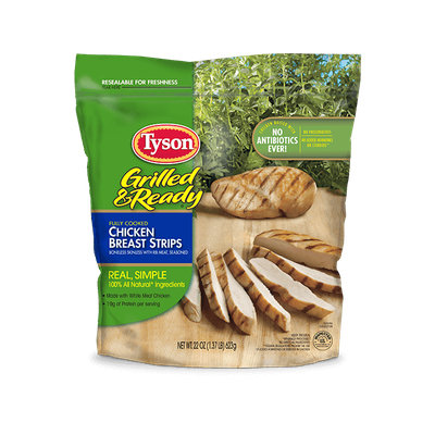 Tyson Fully Cooked Frozen Grilled Chicken Breast Strips