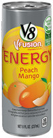 V8® V-Fusion + Energy Peach Mango Flavored Vegetable & Fruit Juice