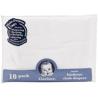 Gerber Flatfold Birdseye Cloth Diapers - 10pk