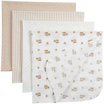 Gerber 4 Pack Flannel Blanket - Neutral - 1 ct.