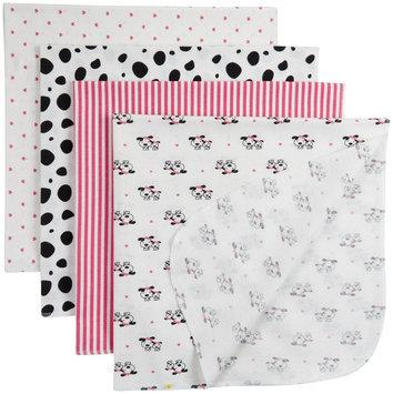 Gerber 4 Pack Flannel Blanket - Pink - 1 ct.