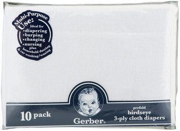 Gerber Gauze Prefold Cloth Diaper - White - 1 ct.