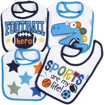 Lamaze 4 Pack Terry Bibs (Dino/Football) - Multicolor - 1 ct.