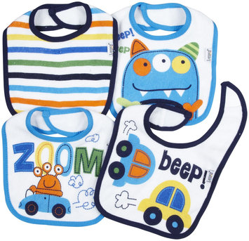 Lamaze 4 Pack Terry Bibs (Cars/Monster) - Multicolor - 1 ct.