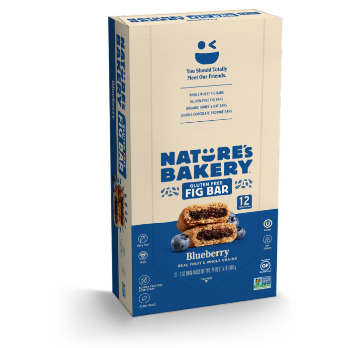 Nature's Bakery Gluten Free + non-GMO + Vegan, Fig Bars, Blueberry