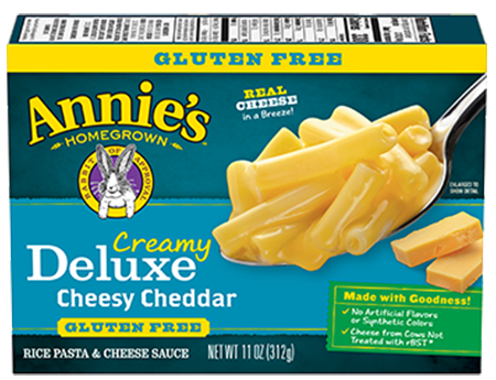 Annie's® Creamy Deluxe Gluten Free Rice Pasta & Extra Cheesy Cheddar Sauce