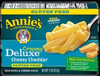 Annie's® Creamy Deluxe Gluten Free Rice Pasta & Extra Cheesy Cheddar Sauce