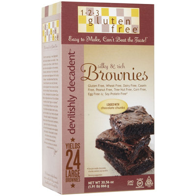 123 Gluten Free Devlishly Decadent Brownie Mix, 30.56 oz