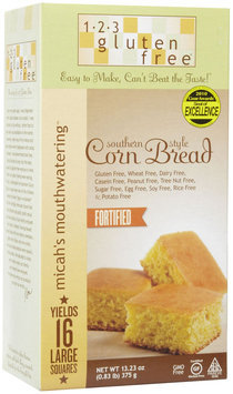 123 Gluten Free Micah's Mouthwatering Corn Bread Mix, 13.23 oz