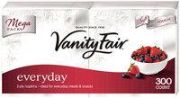 Vanity Fair Everyday Napkins, White - 300 ct