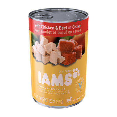 Iams™ Proactive Health™ Puppy Chunks with Chicken and Beef in Gravy