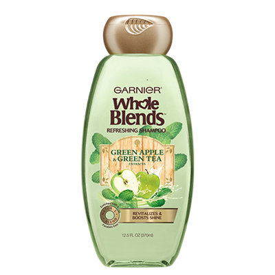 Garnier Whole Blends Green Apple & Green Tea Extracts Refreshing Shampoo