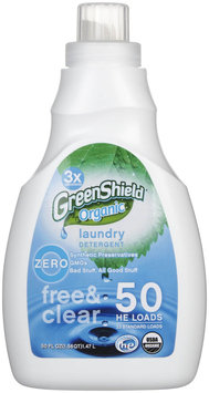 Green Shield Organic - USDA Certified Free and Clear Laundry Detergent - 50 oz.
