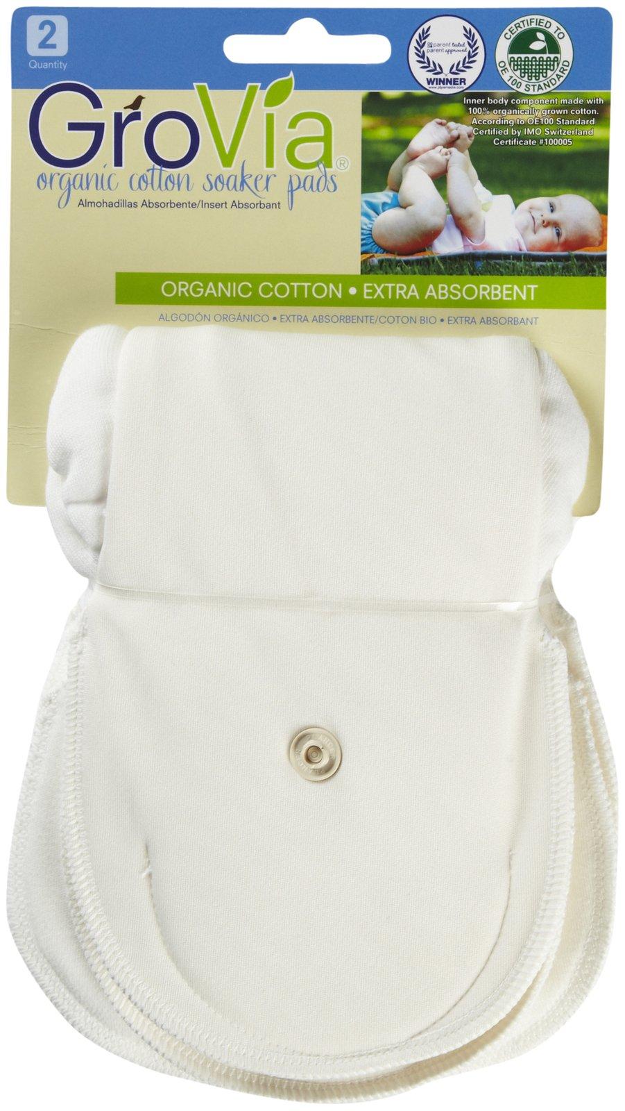 GroVia Organic Soaker Pads - 2-Pk