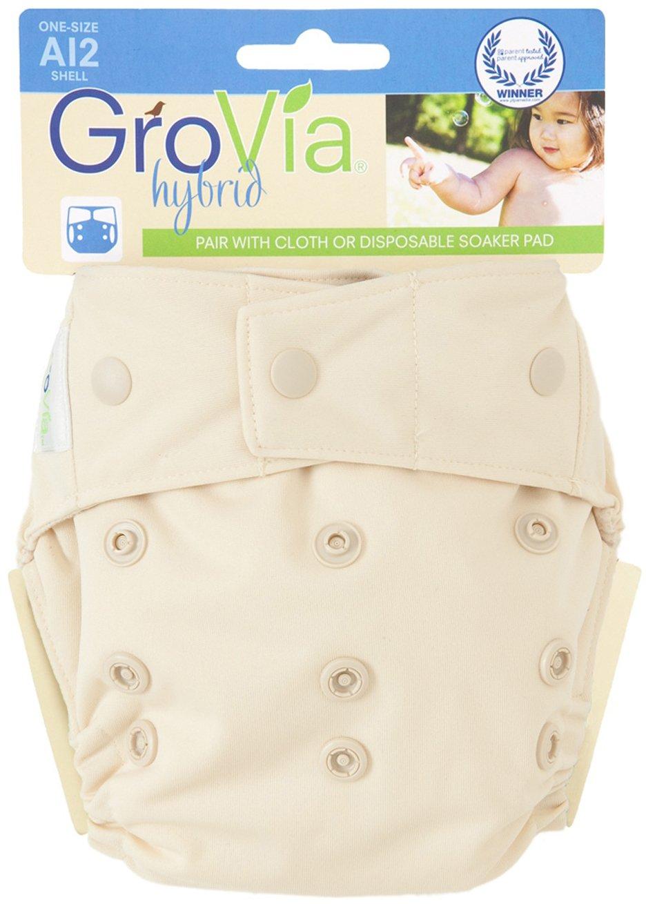 GroVia Cloth Diaper Shell - Snap - Vanilla
