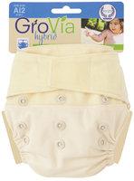 GroVia Cloth Diaper Shell - Hook & Loop - Vanilla - 1 ct.