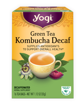 Yogi Tea Green Tea Kombucha Decaf