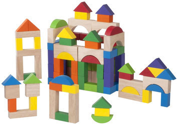 Skechers Wonderworld Toys 100-piece Wooden Block Set