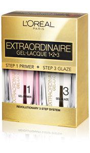 L'Oréal Paris Extraordinaire Gel-Lacque 1-2-3 Kit