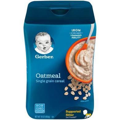 Gerber Single Grain Baby Cereal Oatmeal