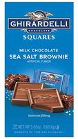 Ghirardelli Chocolate Squares Milk Chocolate Sea Salt Brownie Square