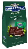 Ghirardelli dark chocolate mint squares bag case pack