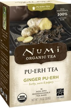Numi Organic Tea Ginger Pu-erh