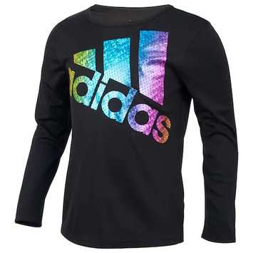 adidas Long Sleeve Colors Ignite Tee For Girls 7-16