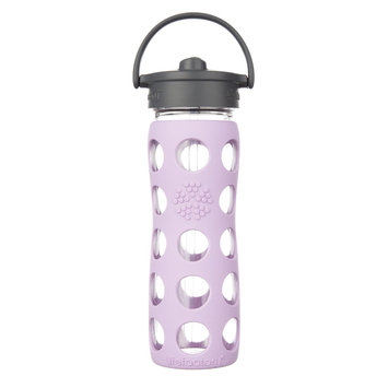 Lifefactory Glass Water Bottle with Straw Cap and Silicone Sleeve
