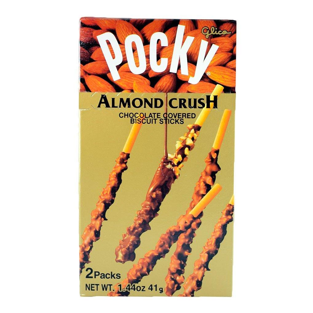 Glico Almond Crush Pocky Chocolate Covered Biscuit Sticks