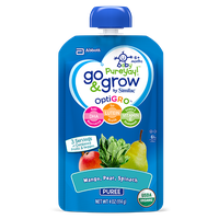 Go & Grow By Similac® Mango, Pear & Spinach Puree Baby Food Pouches With OptiGRO™