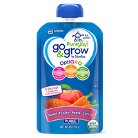 Go & Grow By Similac® Sweet Potato, Apple & Carrot Puree Baby Food Pouches With OptiGRO™
