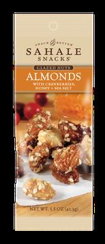 Sahale Snacks: Grab & Go Almonds with Cranberries, Honey + Sea Salt