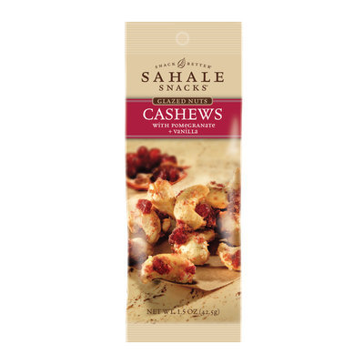 Sahale Snacks: Grab & Go Cashews with Pomegranate + Vanilla