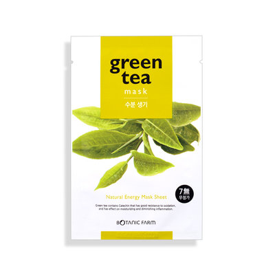 BOTANICAL FARM Green Tea Natural Energy Mask Sheet