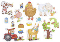 Haba Little Hand Puzzles: Farm (2,3,4 pc)