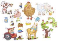 Haba Little Hand Puzzles: Farm (2,3,4 pc)