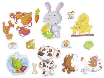 Haba Little Hand Puzzles: Animals (2,3,4 pc)